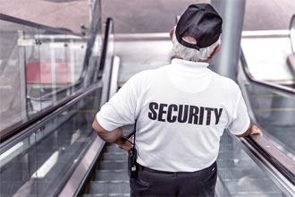 guarda de seguridad en servicio de acuda